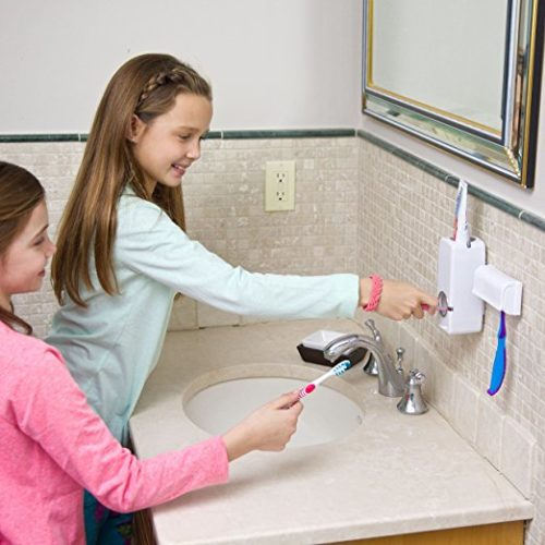 Toothpaste Dispenser-Automatic with Toothbrush Holder