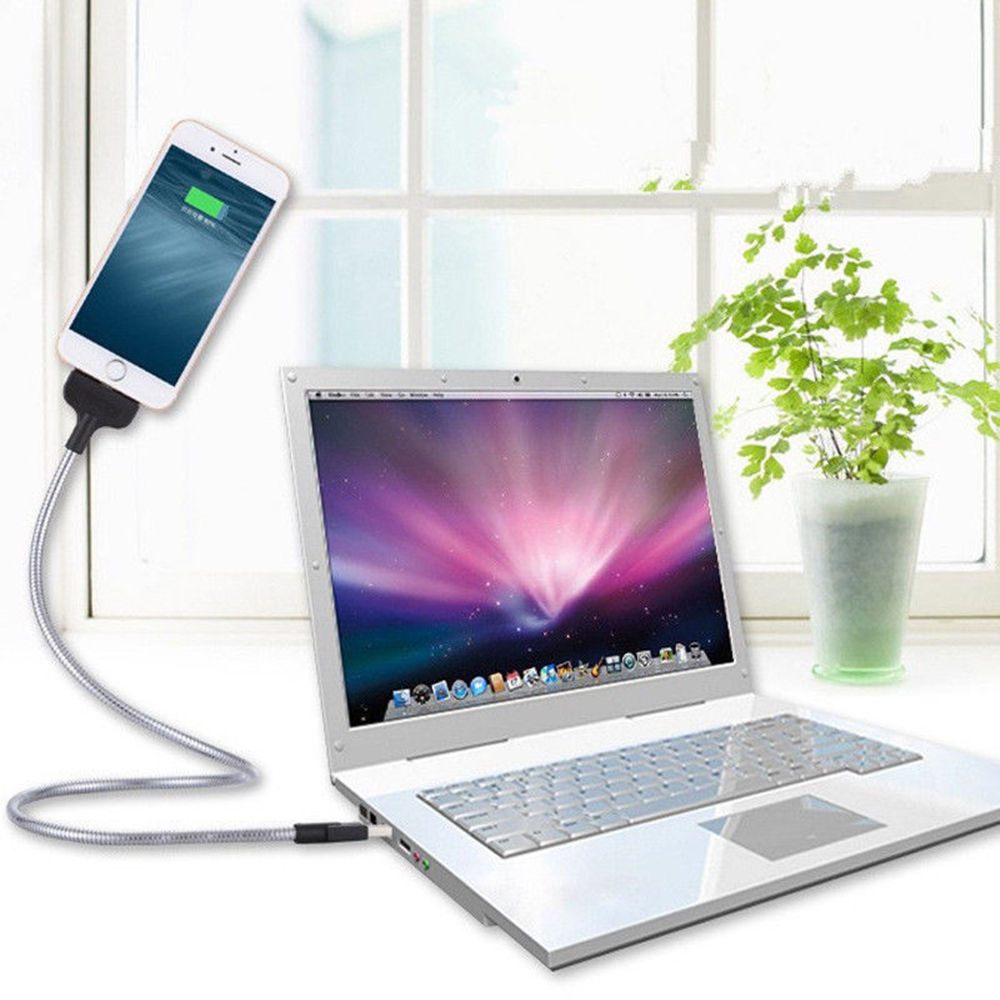 Smartphone Holder- Flexible Charging Cable-The 2 in 1 Charging Cable