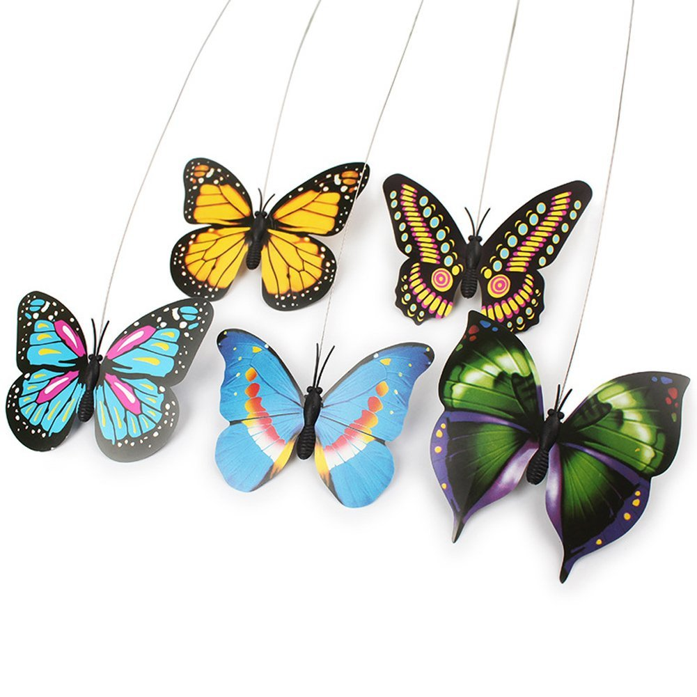 Cat toy butterfly life changing products for Bouquet de fleurs humour