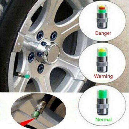 Tyre Pressure Monitor - Smart Tyre Valve Caps (Set of 4)