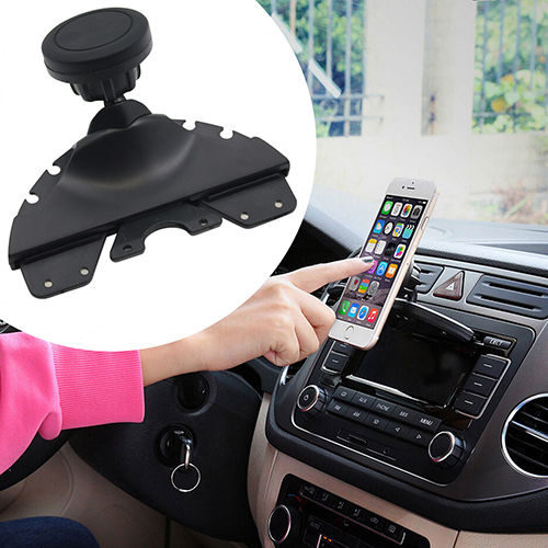 Universal Smartphone Holder-Magnetic CD Slot