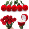 Artificial Rose Ring Box
