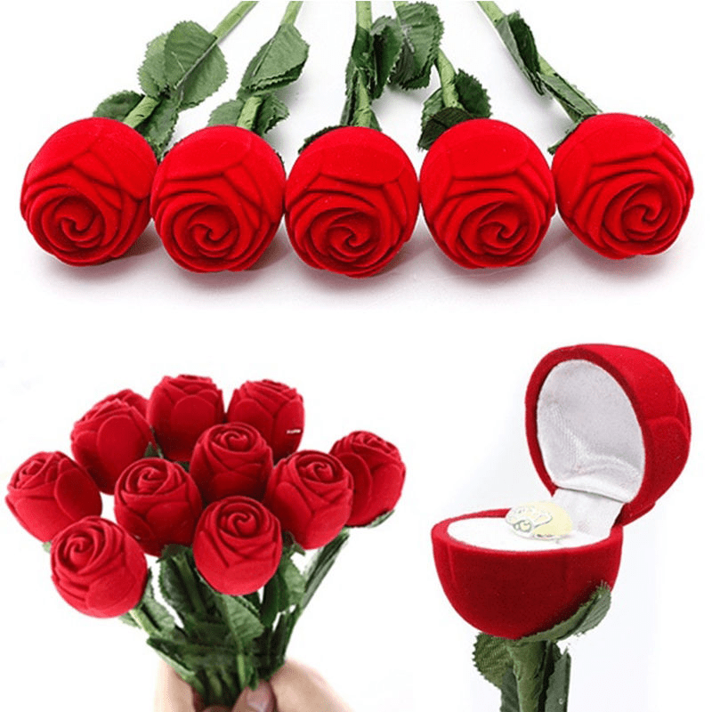 Artificial Rose Ring Box