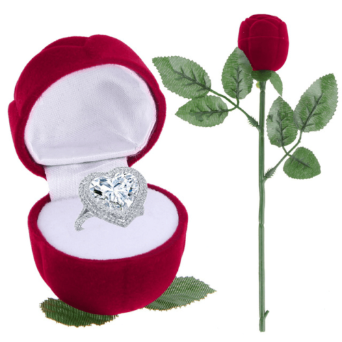 Artificial Rose Engagement Ring Box