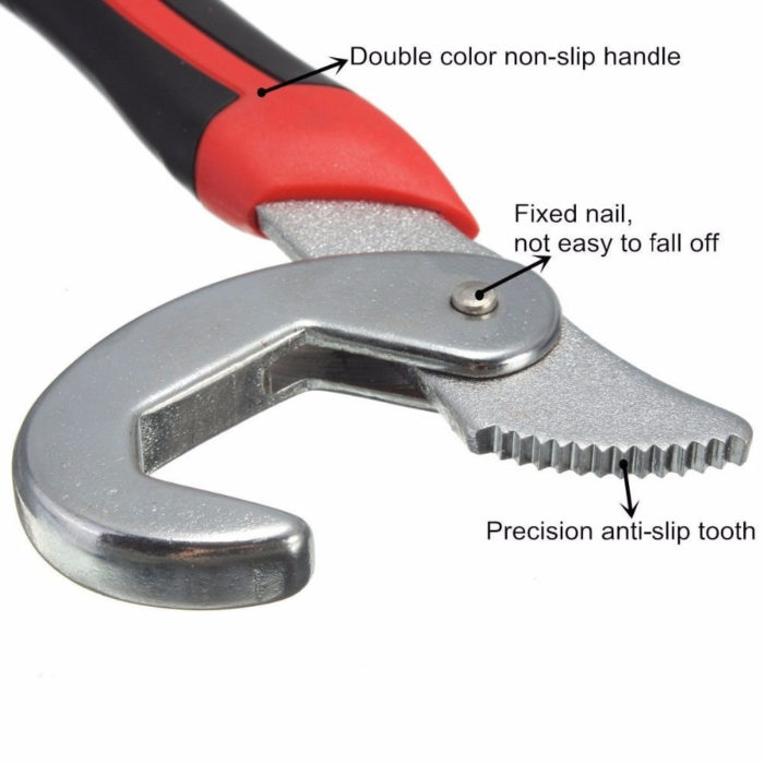 Snap and Grip Universal Wrench