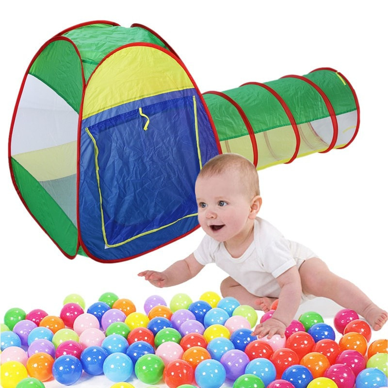Portable Kids Pop Up Tent Tunnel Life