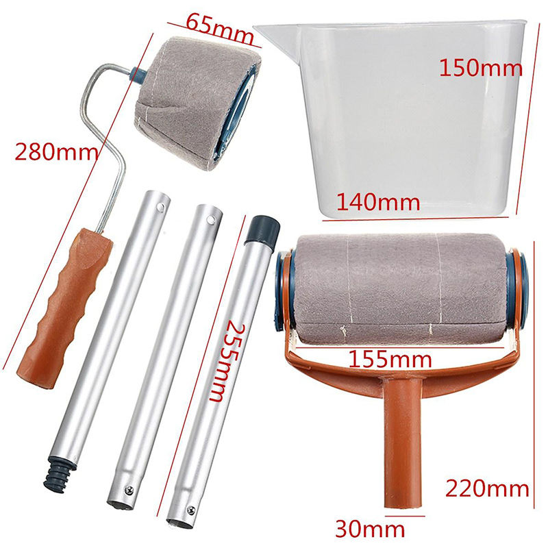automatic paint roller kit set of 6pcs life changing