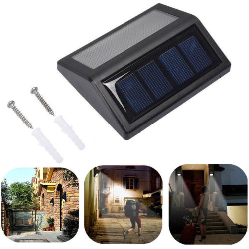 Solar Powered Outdoor Garden Wall Lamps-With Sensor