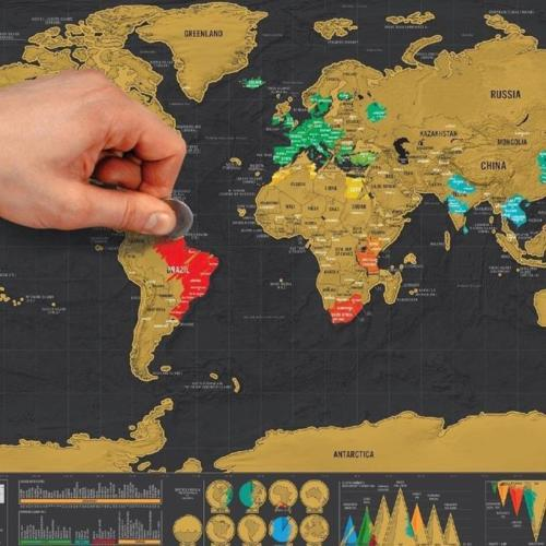 Travel Scratch Map Deluxe