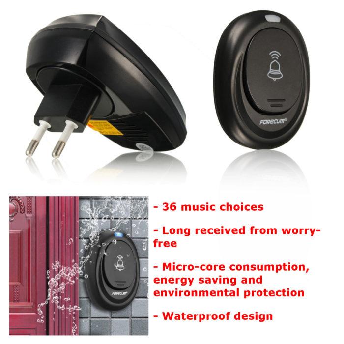 Waterproof Wireless Doorbell-36 Tune