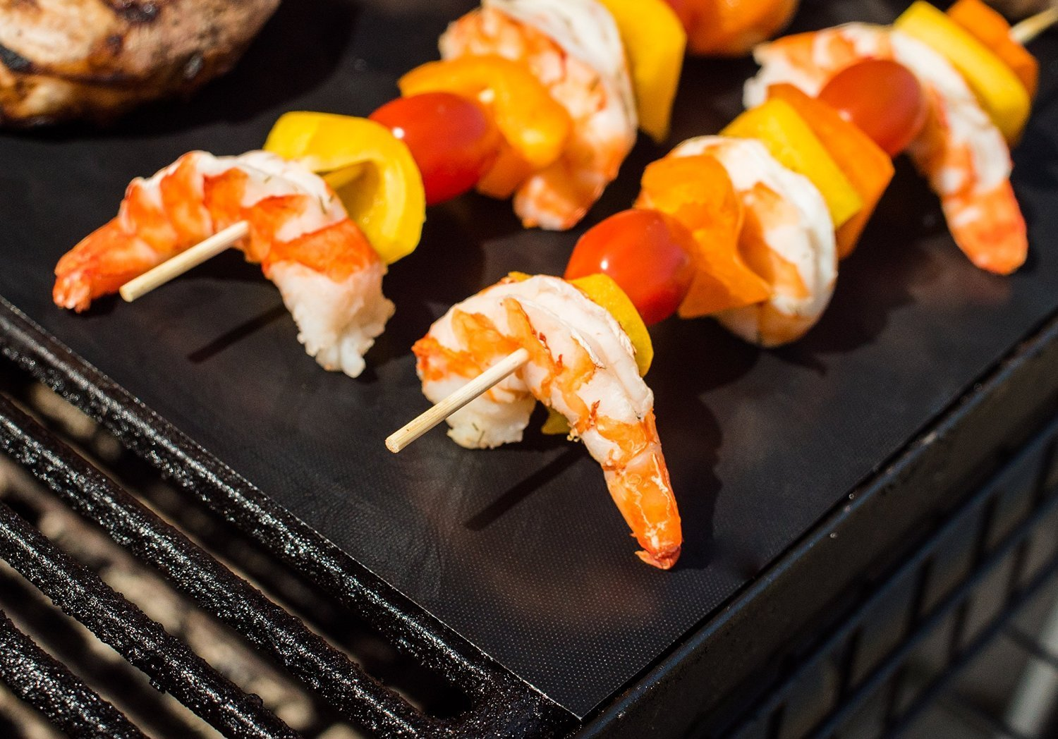 Bbq Grill Mat Non Stick Pad Set Of 2 Life Changing