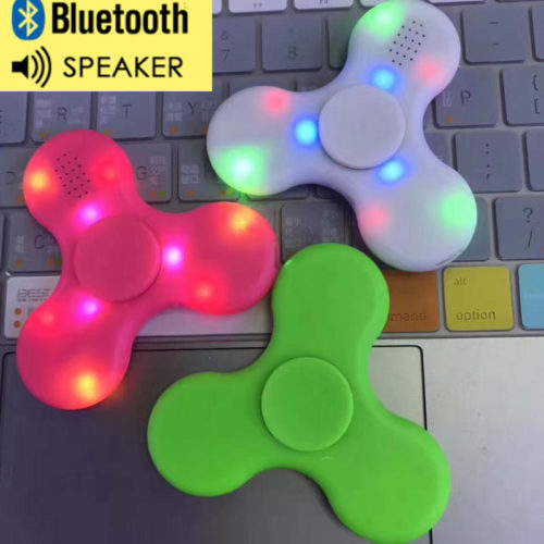 Fidget Spinner LED Light with Bluetooth Speaker
