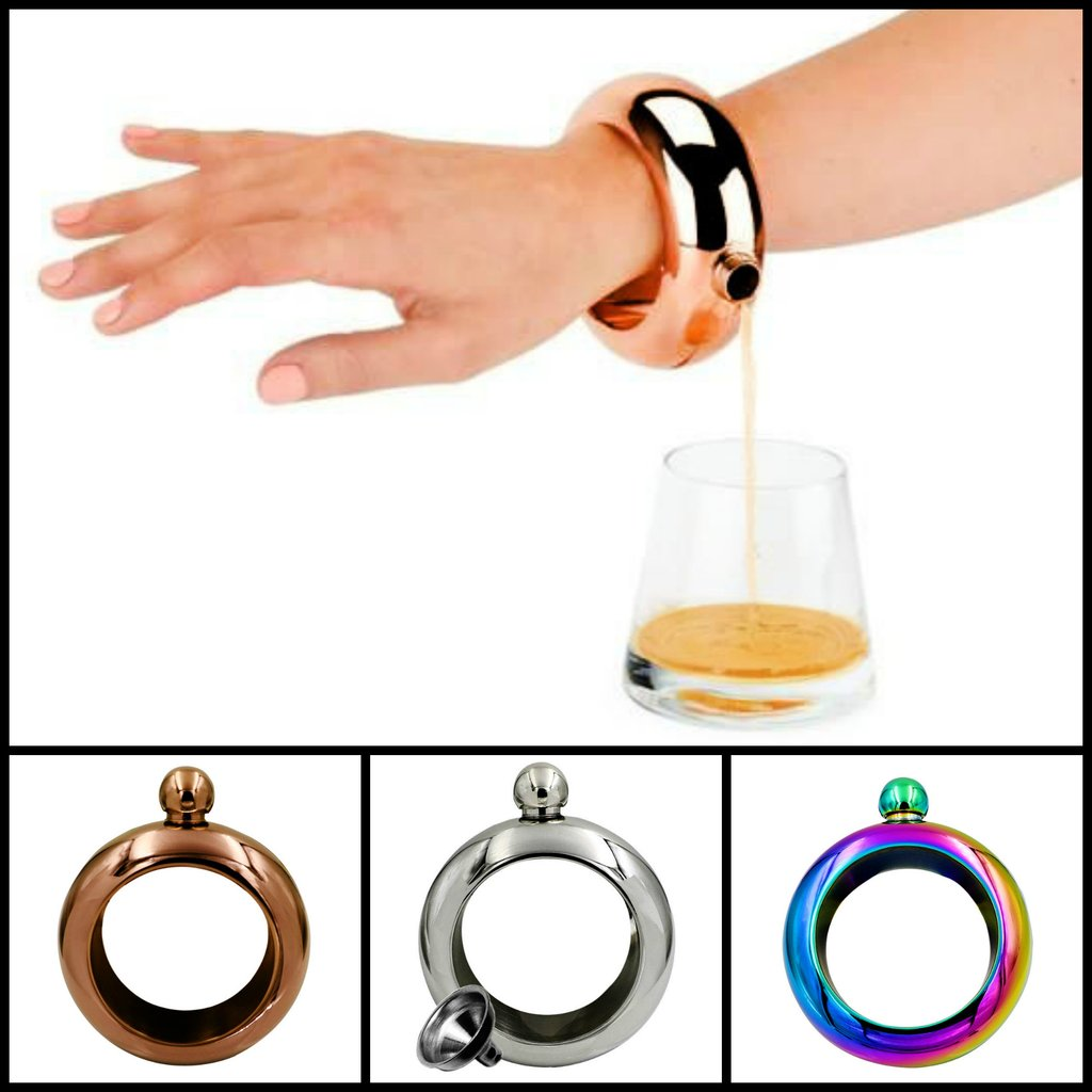 Stainless Steel Bracelet Flask