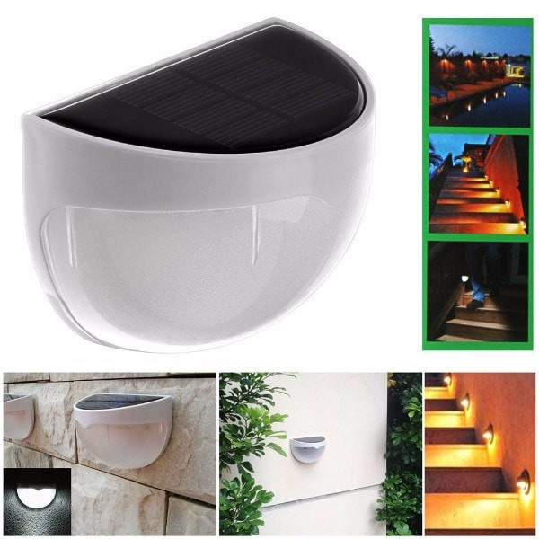 Solar Powered Outdoor Lamp Wall Mounted Semi Circle Life Changing Products