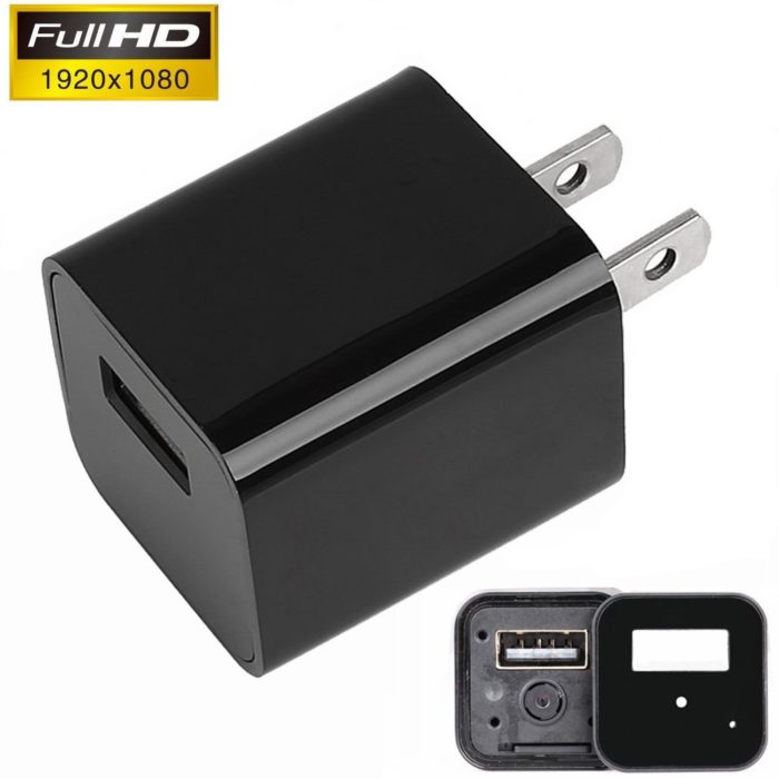 1080P HD Wall Charger USB Spy Camera