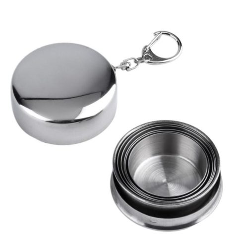 Collapsible Cup-Outdoor Stainless Steel Mug /Collapsible Drinking Cup
