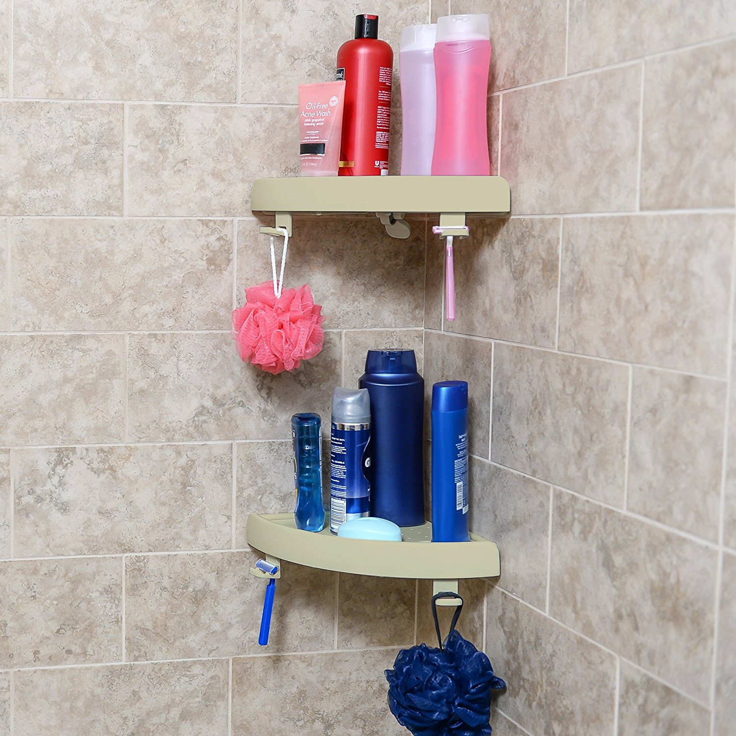 Snap On Corner Shelf Organizer Shower Caddy Corner Shelf