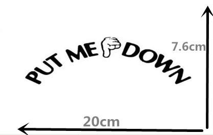 PEACE SYMBOL Vinyl Sticker 20cm x 20cm Novelty Humorous Toilet Seat