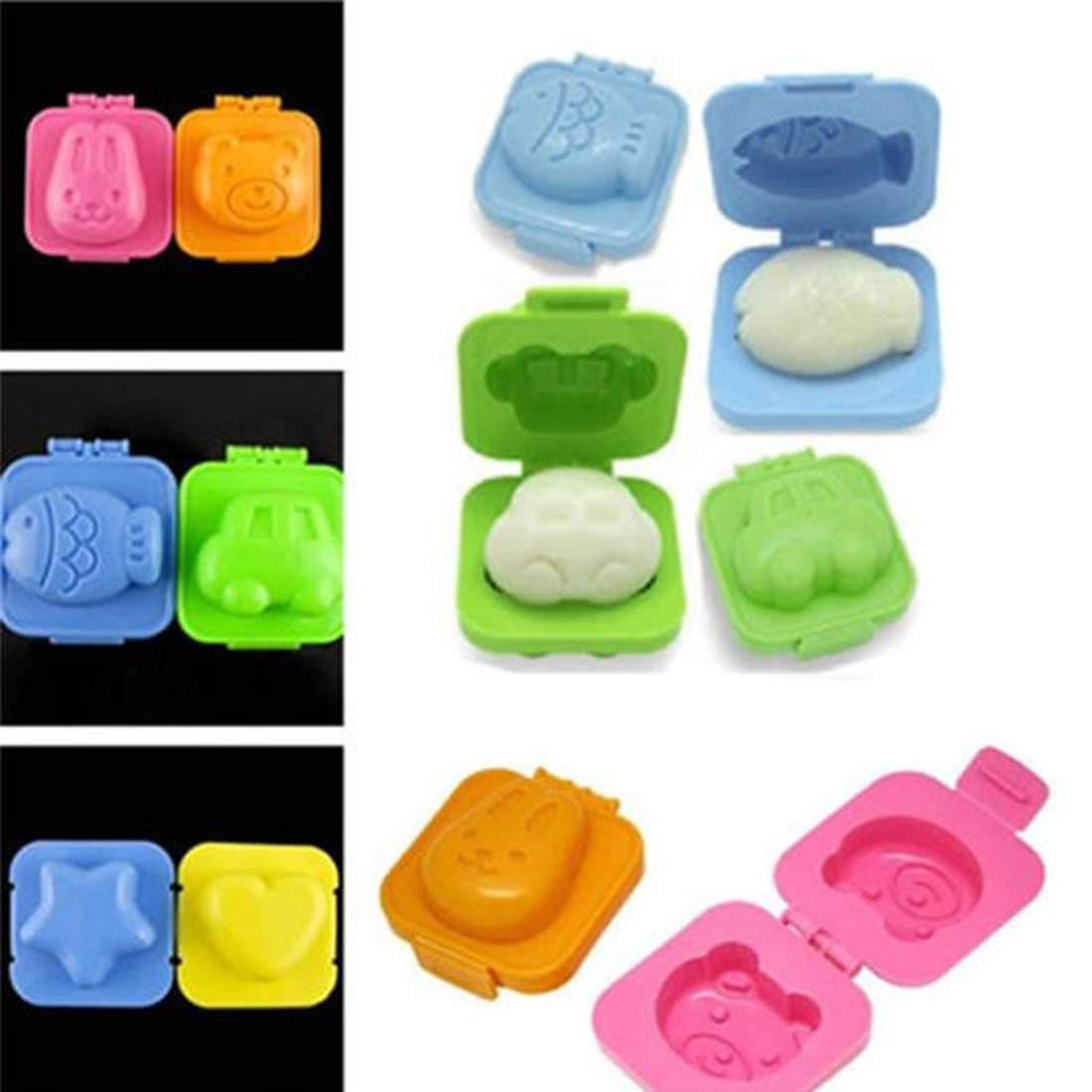 Image result for 6pc 3D Cartoon Food Mold Set