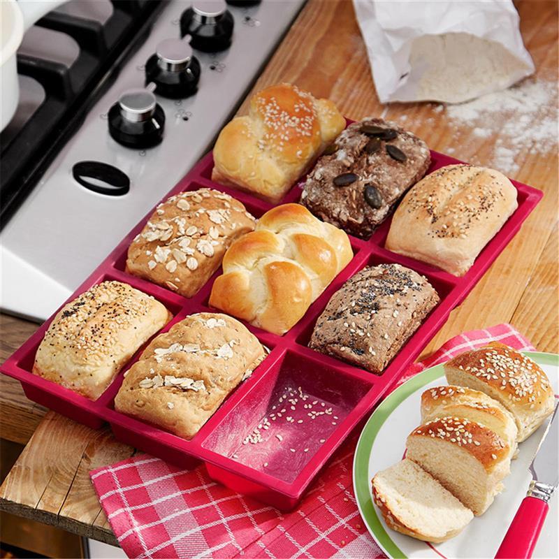 9 Hole Silicone Bread Pan