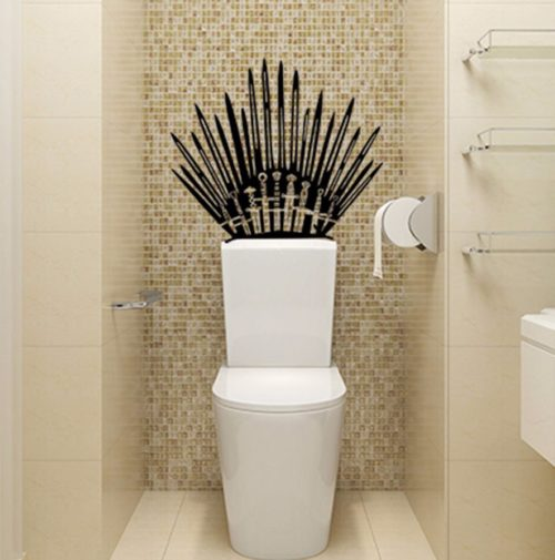 Iron Throne Toilet Decal Wall Sticker