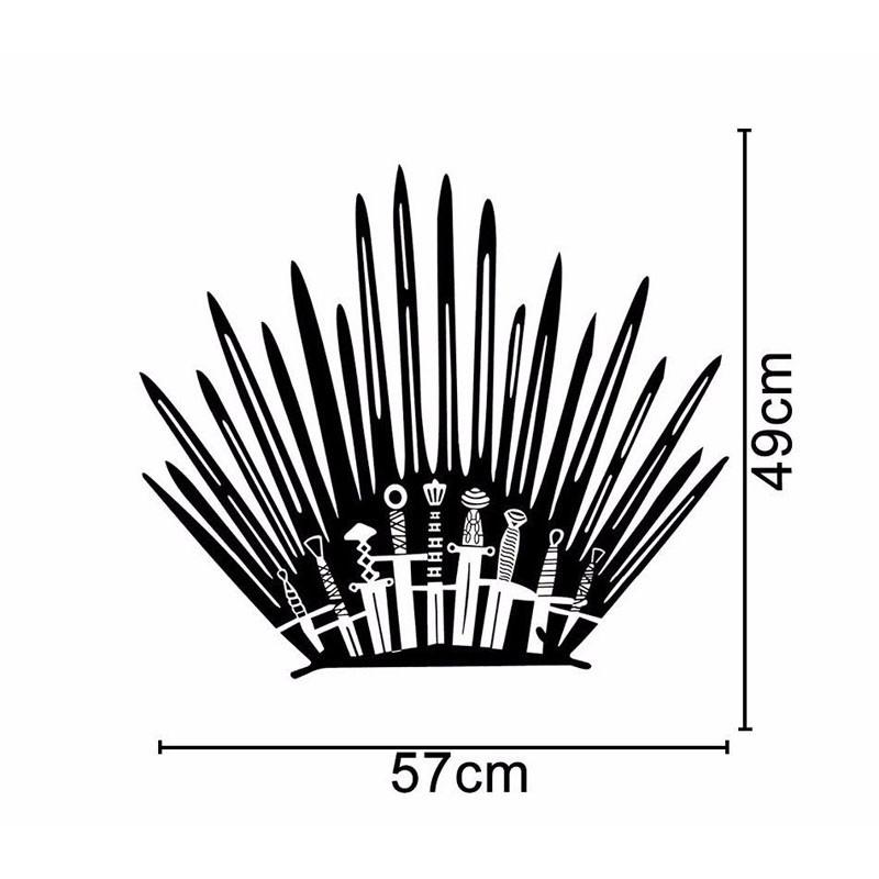 Iron Throne Toilet Decal Wall Sticker