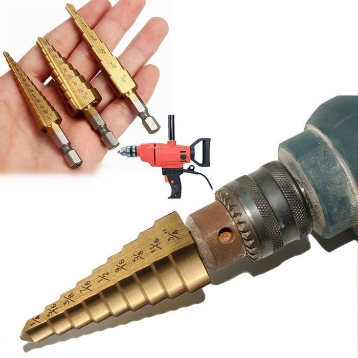 Titanium Step Drill Bits