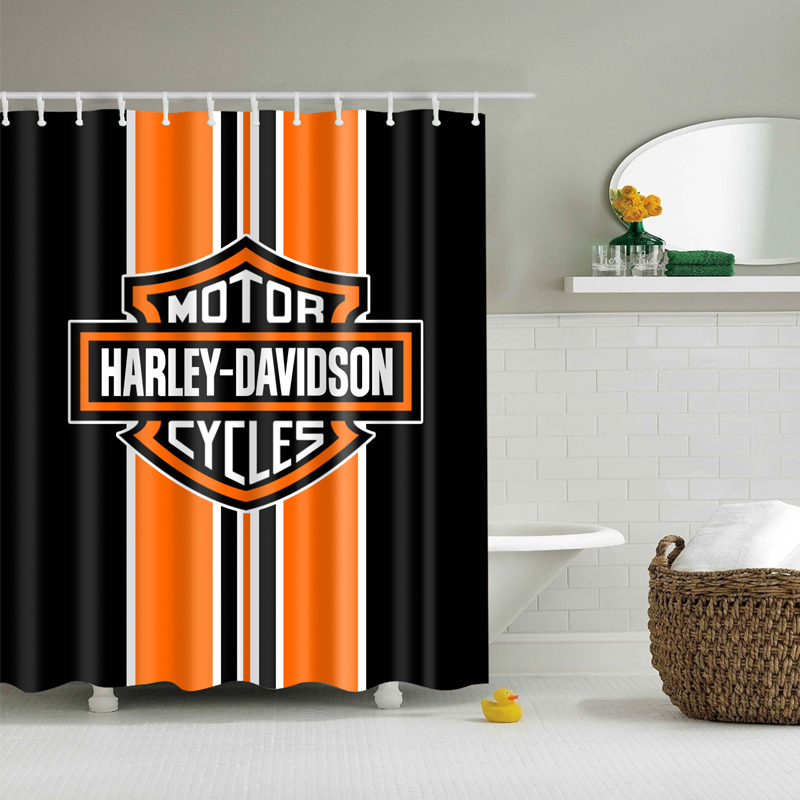 harley davidson logo shower curtain life changing products