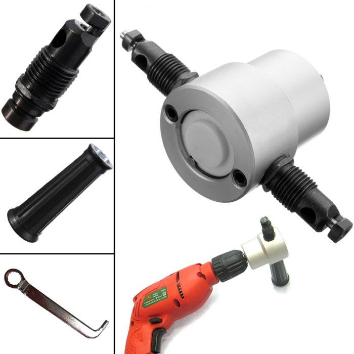 Double Head Sheet Nibbler Tool Metal Cutter Drill