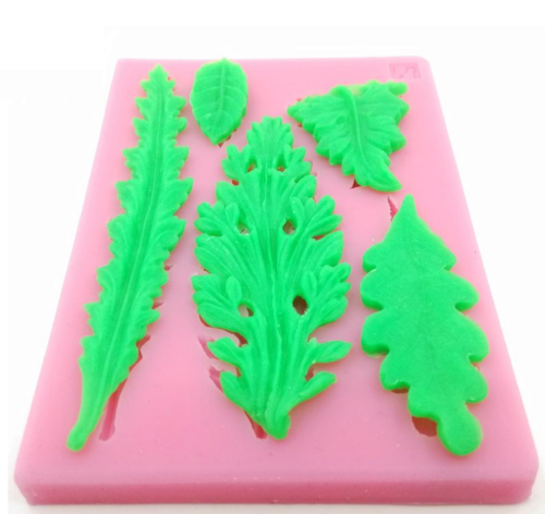 Leaves Silicone Molds (Set Of 5)