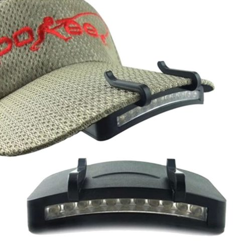 LED Clip On Cap Headlamp-11 LED Globes