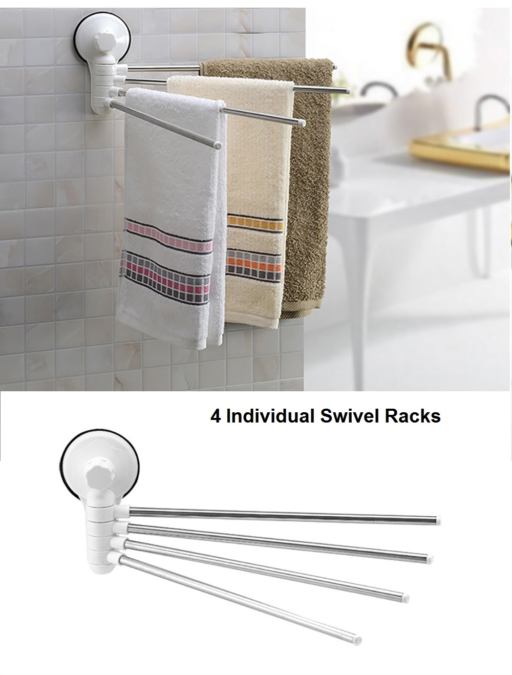 Suction Towel Rack