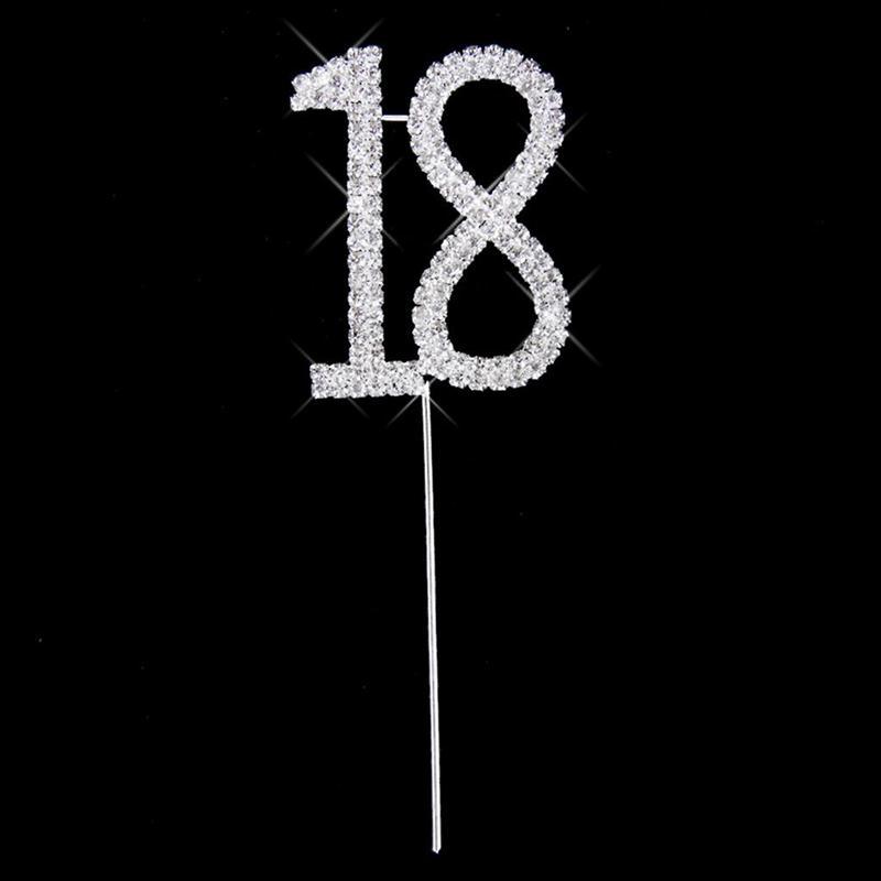 18th Anniversary Birthday Cake Topper