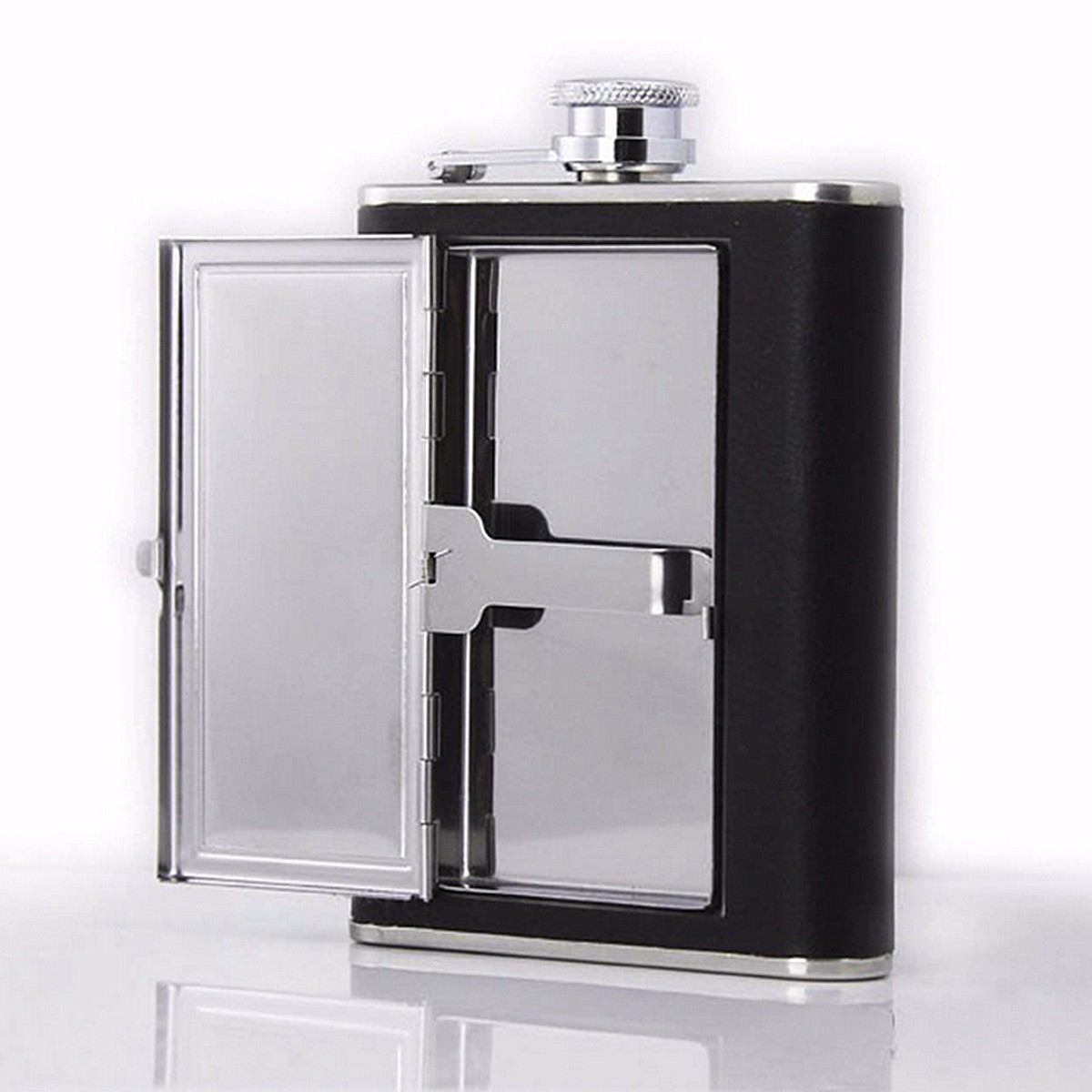 Dual Purpose Stainless Steel Hip Flask