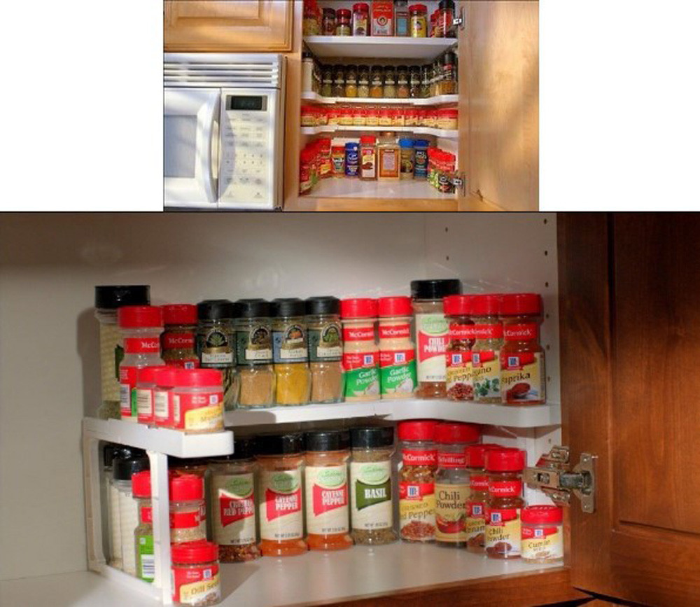 Kitchen Shelf Organiser: Adjustable Kitchen Shelf / Organizer