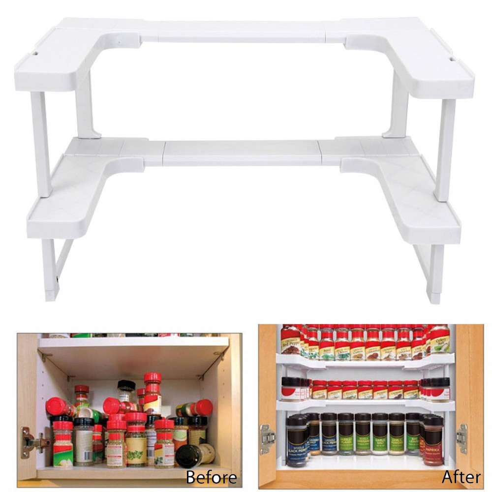 Multi Function Adjustable Kitchen Shelf / Organizer
