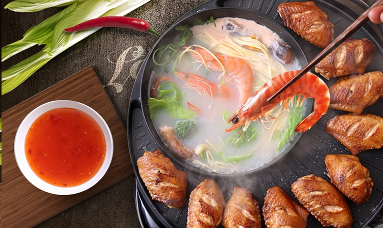 1.8L Electric Multi Functional Non-Stick Cooker