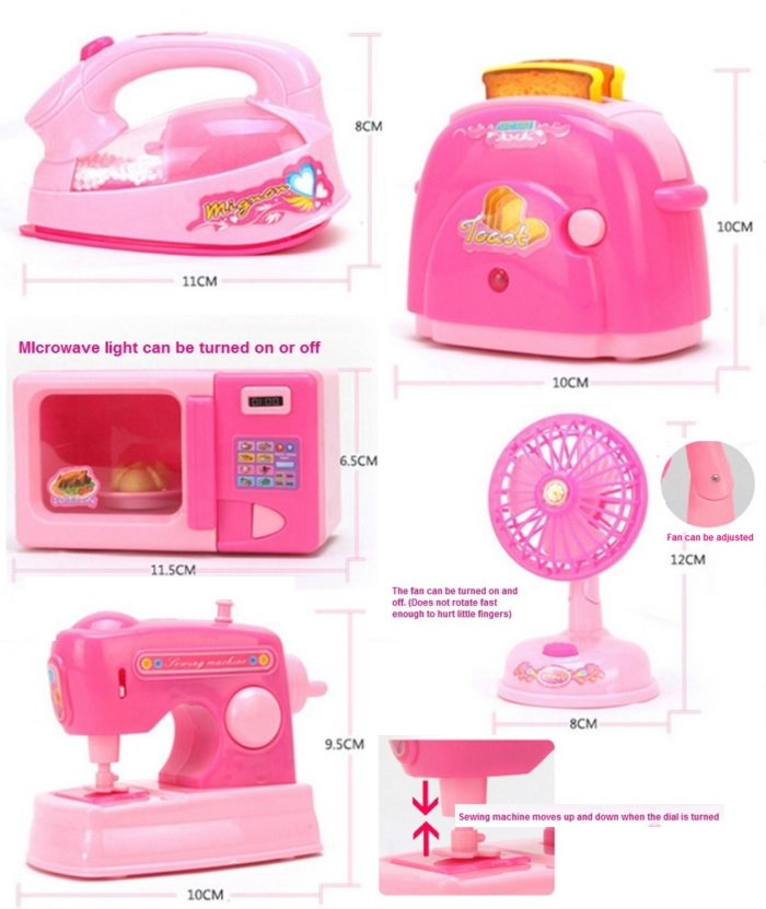 Mini Play Kitchen And Home Appliances