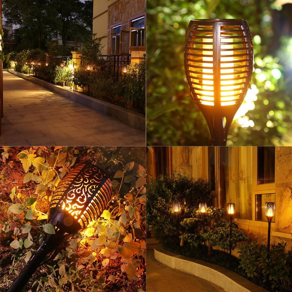 Led Solar Outdoor Lighting Dancing Flame Life Changing