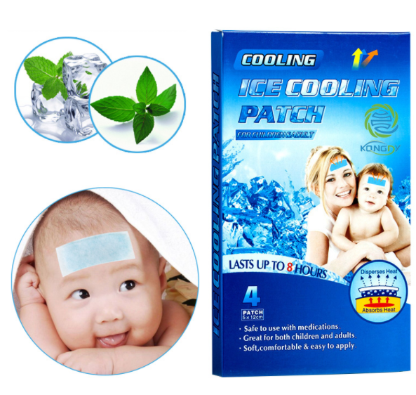 KONGDY Health Care 16 Pieces=4 Boxes Fever Reduce Patch Herbal