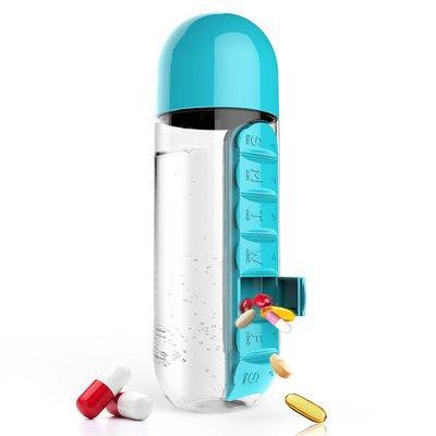 Water Bottle & Pill Organizer Case