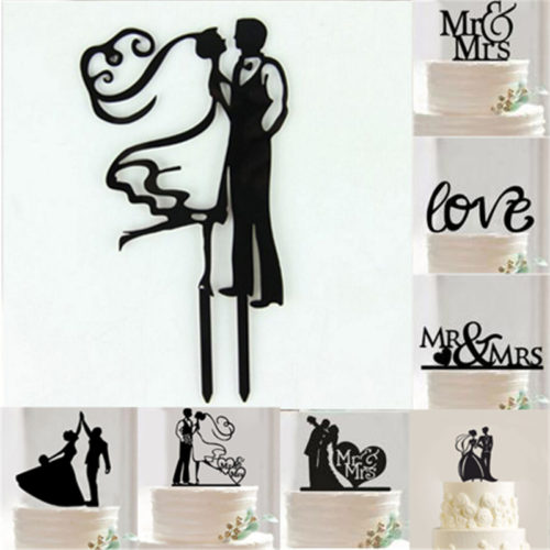Acrylic Wedding Cake Topper