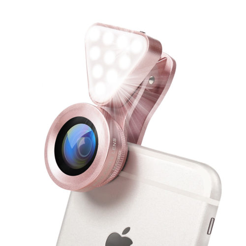 Universal Wide Angle Selfie Lens With LED Light
