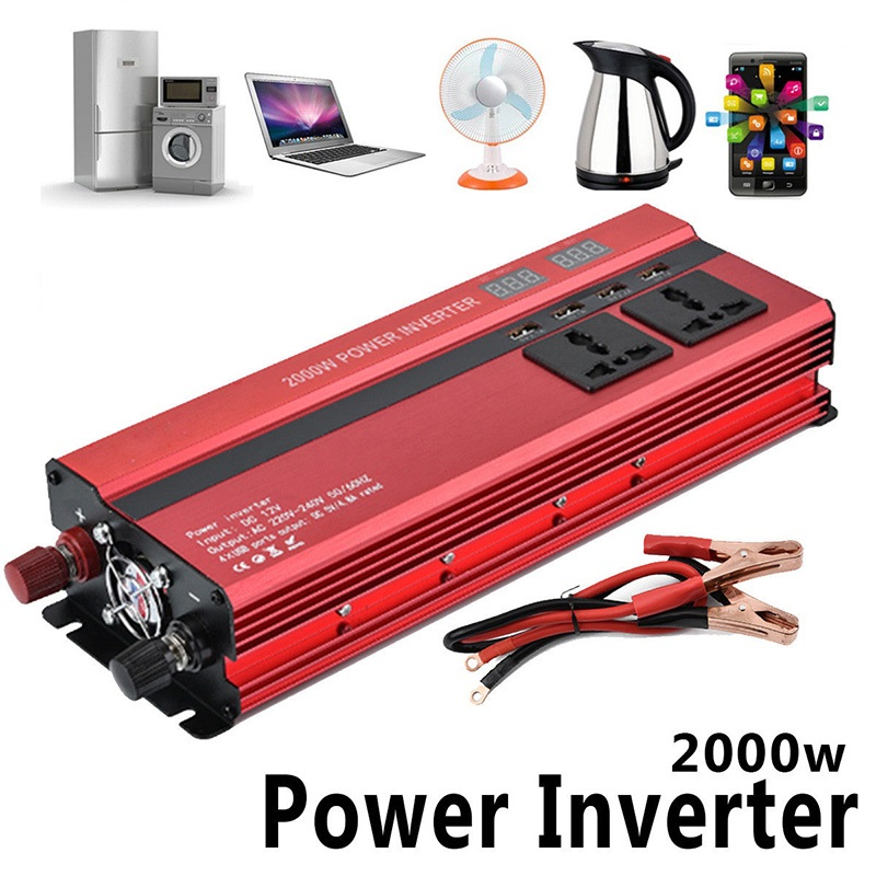 2000W Car LED Power Inverter with 4 USB Ports