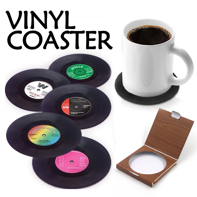 Vintage Vinyl Record Coasters (Set of 6) - Life Changing ...