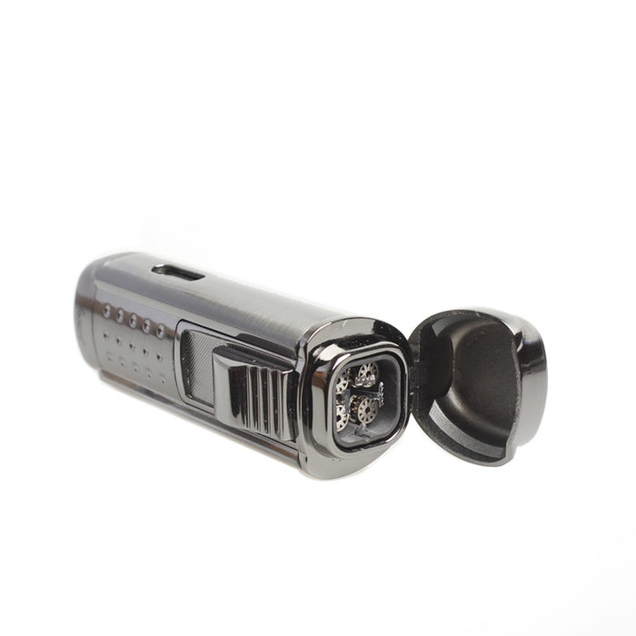 Windproof Cigar Punch & Quadruple Lighter