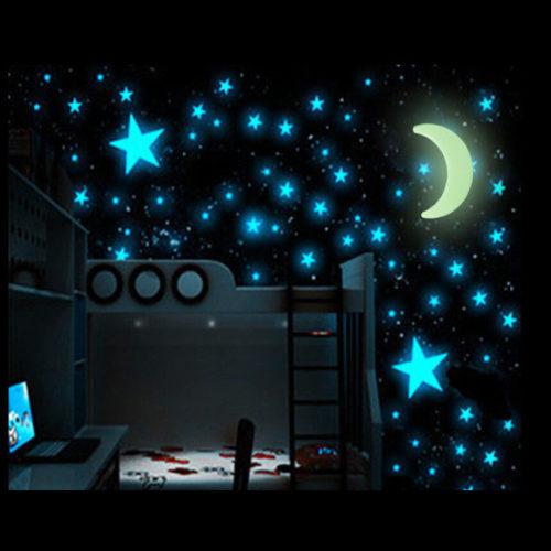Stars & Moon Luminous Decals