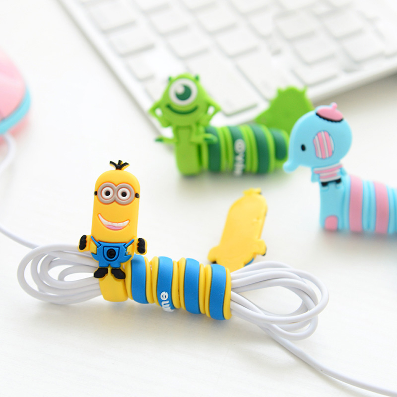 Flexible Silicone Cartoon Cord Winder