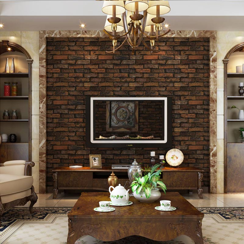 3D Stone Brick Design Vinyl Wallpaper