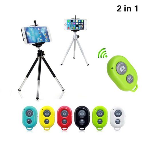 Universal Phone Tripod With Bluetooth Remote Control